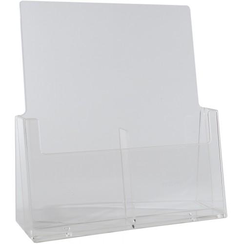"Brochure Holder 4"" x 9"" Freestanding 2 Bay, Tri-fold, 1/3 A4 Letter, BHI 2C112 (36/CASE)"