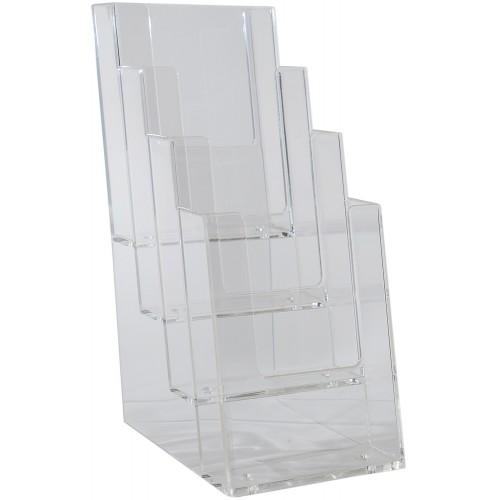 "Brochure Holder 6"" x 9"" Freestanding 4-Tier, A5 Half Letter, BHI 4C160 (18/CASE)"