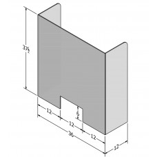 C19SG0001 Sneeze Guard - Rectangle Sides