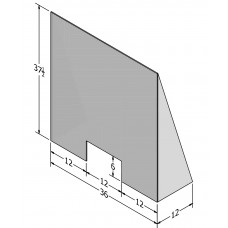C19SG0002 Sneeze Guard - Tri-angled Sides