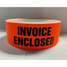 "Label 2"" x 5"" INVOICE ENCLOSED  Fl.Red (500/rl)"