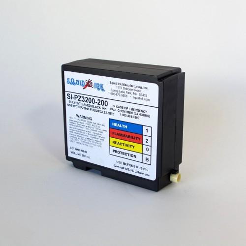 INK, Squid Ink  SI-PZ3200-200C, Black,  200ml Cartridge for Solvent-Based AutoPilot/CoPilot Systems - 2103121